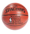 SPALDING斯伯丁 PU皮红色NBA LOGO铂金经典篮球64-282(74-605Y)