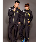 STIGA斯蒂卡 乒乓球运动套服 上衣+长裤 黄黑色 G1404144