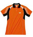 Butterfly蝴蝶 专业乒乓球服 运动短袖 BWH262-0609 黑橙