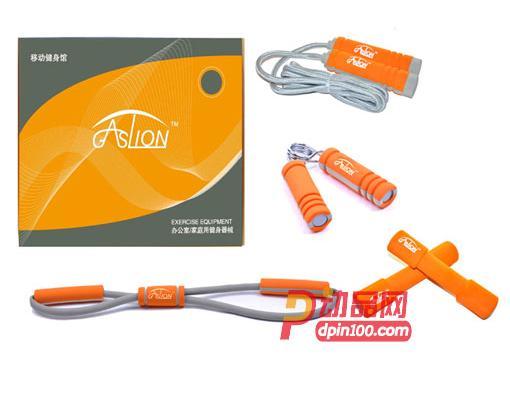GASLION格狮伦 运动健身五件套 8字拉力器/哑铃2/握力器/跳绳 5件套礼品 GS003