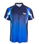 蝴蝶乒乓球服运动服BWH266-0503 比赛T恤 男女款 清新蓝款