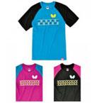 Butterfly蝴蝶乒乓球服BWH-818圆领短袖 比赛T恤 男女款