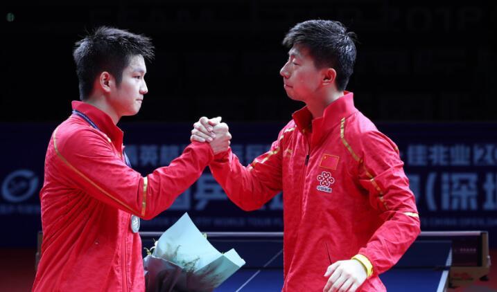 祝贺马龙第七次夺得中国公开赛男单冠军