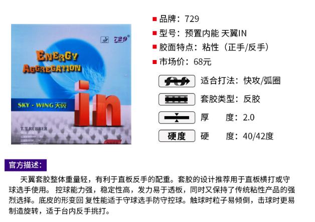 友谊729预置in新款乒乓胶皮有哪些?