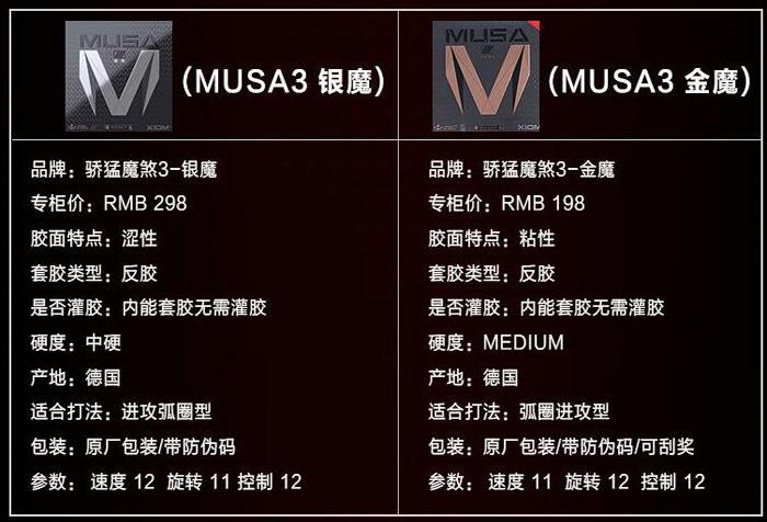 骄猛XIOM银魔三新材料银魔3 MUSA3 魔煞三升级79-045 乒乓球反胶套胶
