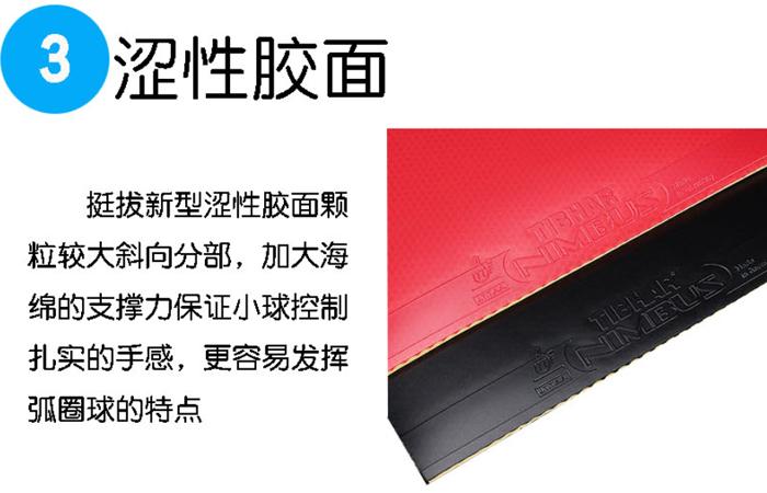 TIBHAR挺拔省队灵气王专业涩性套胶 德国进口乒乓球拍胶皮
